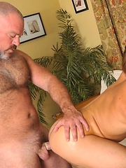 Hairy daddy Reed finds beefy jock Bronson and fucks his hole