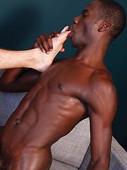 Interracial gay coupling between Barrington Brooks and Troy Daniels