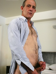 Mature gay man solo masturbation