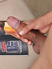 He uses both hands to make a tight tunnel to pump his fat cock