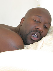 Big black bear Hurley Tucker  pushes his cock deep in Berns wet mouth