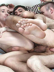 Two groups make one hot 4x4 of sucking and stroking