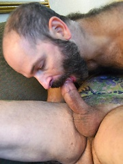 Daddy Lucas And Machael Johnson, A Furry Tattooed Bear & Cub At Play