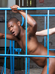 Breno and Jay place Mikey and sports guy Dirk in a common drill cage for fun. Immediately Mikey ...