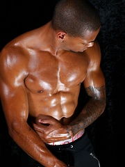 Flexing Muscles and Posing