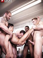 Pedro Andreas Leads Armond Rizzo And Max Cameron's Bareback Orgy